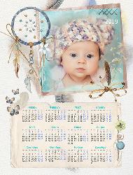 Календарь 2019 - Пёрышко