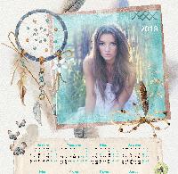 Календарь 2018 - Пёрышко