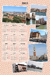 Календарь 2019 - Нежный розовый
