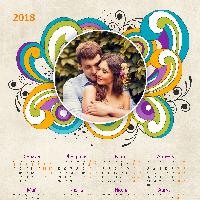 Календарь 2018 - Завитки