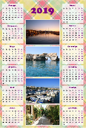 Календарь 2019 - Клеточка