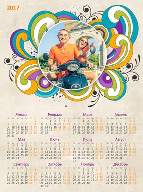 Календарь 2017 - Завитки